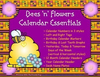 Bees 'n' Flowers Calendar Essentials
