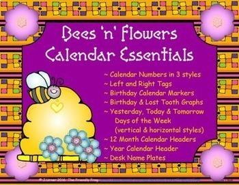 Bees 'n' Flowers Calendar Essentials