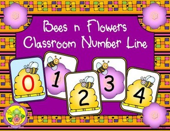 Bees 'n' Flowers Classroom Number Line