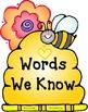Bees 'n' Flowers Pre-Primer Word Wall
