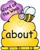 Bees 'n' Flowers Third Grade Word Wall