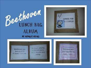 "Beethoven Brown Lunch Bag Album ""Craftivity"""