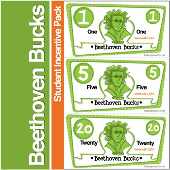 Beethoven Bucks | Music Student Incentive Pack (Digital Print)
