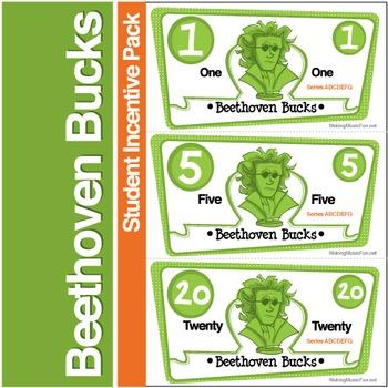 Beethoven Bucks | Music Student Incentive Pack (Digital Print)