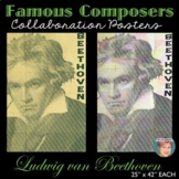 Beethoven Collaboration Portrait Poster - Famous Musicians Series