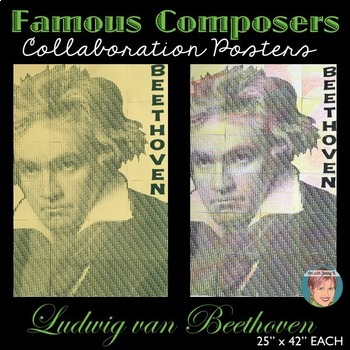 Beethoven Collaboration Portrait Poster - Famous Musicians Series