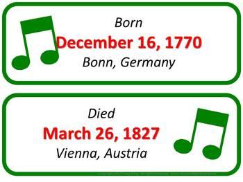 Beethoven Composer of the Month (December) Bulletin Board Kit