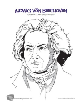 Beethoven | Composer of the Month Lesson and Bulletin Board Pack