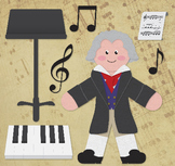 Beethoven - Famous Composers Clip Art Set 02