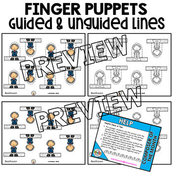 Beethoven Finger Puppets (Composer of the Month)