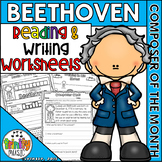 Beethoven Reading and Writing Activities (Composer of the Month)