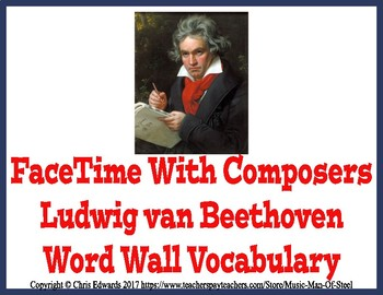 Beethoven Word Wall Vocabulary