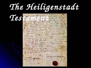 Beethoven's Heiligenstadt Testament for Middle/High School