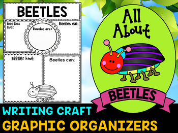 Beetles BUNDLE: Graphic Organizers and Writing Craft Set : Science & Literacy