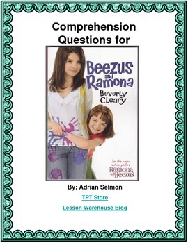 Beezus and Ramona Comprehension Questions
