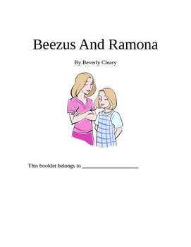 Beezus and Ramona Beverly Cleary Novel Study Packet
