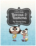 Beezus and Ramona Student Booklet for Novel Study