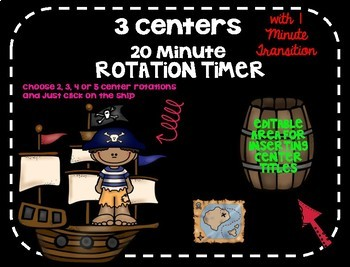 Beezy Digital Rotation Timer 20 Minutes Pirate Theme