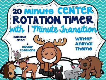 Beezy Digital Rotation Timer 20 Minutes Winter Animal Theme
