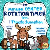 Beezy Digital Rotation Timer 20 Minutes Winter Animal Theme