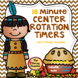 Digital Rotation Timer for Centers 18 Minutes  Thanksgiving Theme
