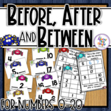 Before, After & Between Number Order for numbers 0-20 ~ Spider / Halloween Theme
