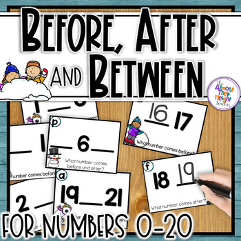 Before, After & Between Number Order for numbers 0-20 ~ Winter Themed