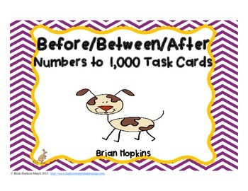 Before After Between Numbers to 1,000 Task Cards