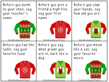 Before, After, and Conditional Directions: Ugly Sweater Style