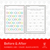 Before & After - fill in missing numbers (1-100)