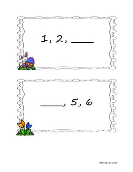 Before, Between, After Activity and Printables - Easy Prep - Easter Themed