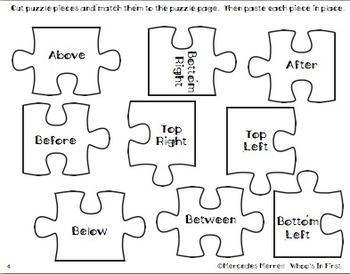 Before, Between, After... Complete the Puzzle Cut and Paste Numbers Activity