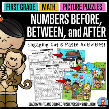 Before, Between, and After - Math Picture Puzzles {1st Grade}