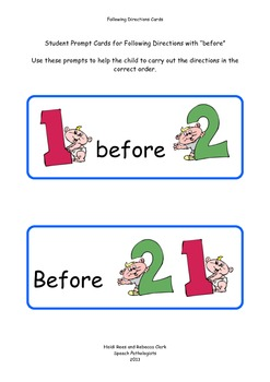 Before - Direction Cards