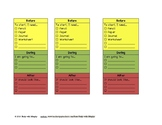 Before/During/After Desk Chart or Task Card - Work Production