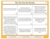 Before During After Fiction Reading Comprehension Tic-Tac-Toe