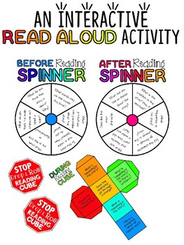 Interactive Read Aloud: Before, During, After Read Aloud Wheels and Cube