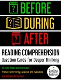 Before-During-After Reading Comprehension Question Cards for Deeper Thinking