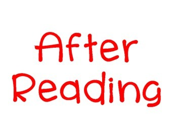 Before, During, After Reading Poster