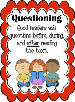 Reading Before, During, and After Question cards (Fiction