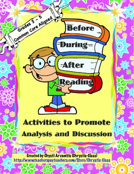 Before, During, and After Reading:  Analysis and Discussion: CCSS Aligned