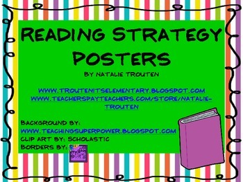 Before, During, and After Reading Strategy Posters
