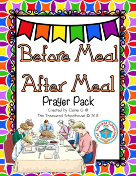 Before Meal and After Meal Prayer Pack