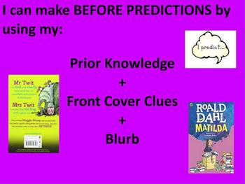 Before Predictions Reading Poster