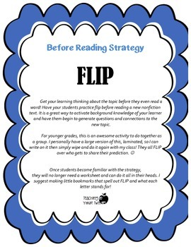 Before Reading Strategy - Flip