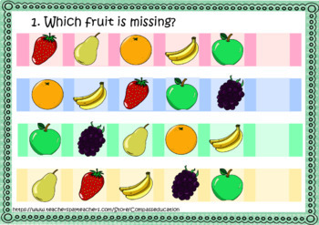 Before Sudoku. Which fruit is missing?