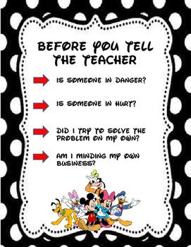 Before Telling The Teacher