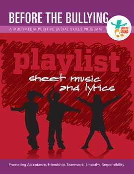 Before The Bullying Sheet Music Book and 26 Songs
