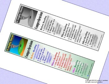 Before, When, and After Reading Comprehension Bookmark