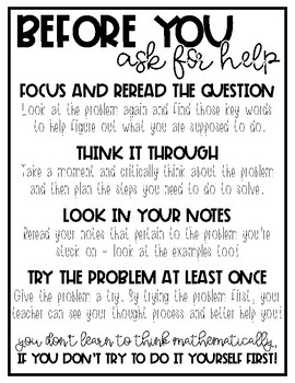 Before You Ask For Help Poster